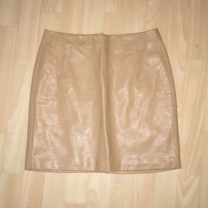 Forever 21 camel tan faux leather skirt small
